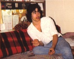 Suave Steve hangin' in his dorm room...