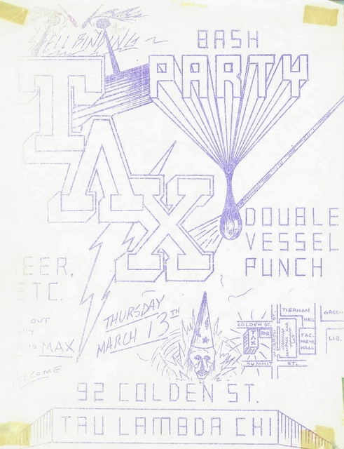 Party Poster - March 13, 1980