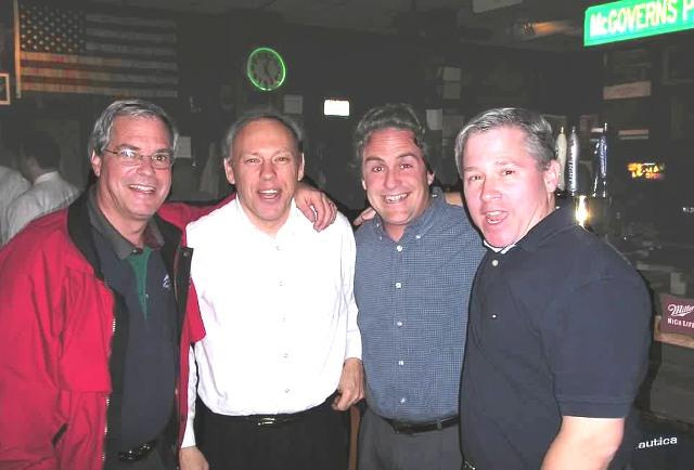 "McGovern's Mini-Reunion, Summer 2003: (l-r) Paul ""Vessel"" Kling, Don Morrison, Chris Zeiner, Rich Albecker"