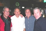 "McGovern's Mini-Reunion, Summer 2003: (l-r) Paul ""Vessel"" Kling, Don Morrison, Chris Zeiner, Rich Albecker"