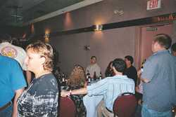 The bro's from the 80's/90's check out a 1989 party video as Marguerite Albecker (foreground) looks on...