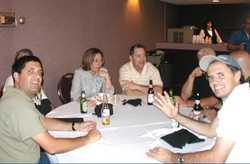 Joe Gillio, Bill Sperry, Terry and Bill Kidd, Doug Mutter (TKE), Joe Golden (TKE), and John McMonagle (IKPhi)
