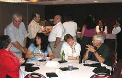 Ken Scuorzo, Bill Kidd and Frank Melhus (standing); Sharon Pitoscia, Cheryl Scuorzo, Janet Jannelli, and Ralph Campitiello (seated)